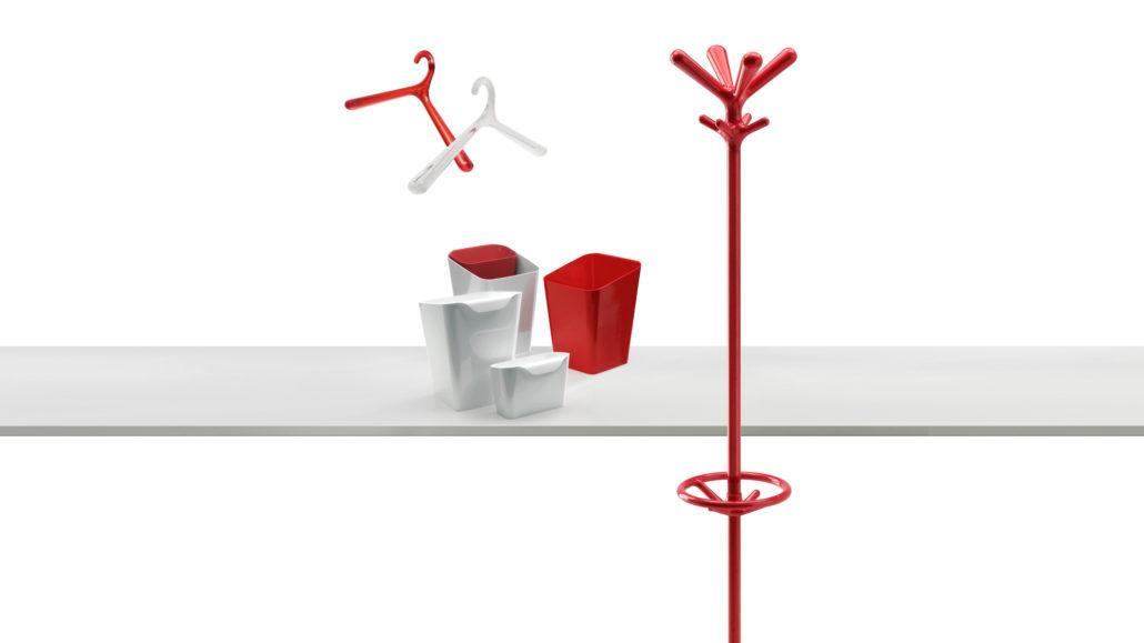 Rode moderne kapstok