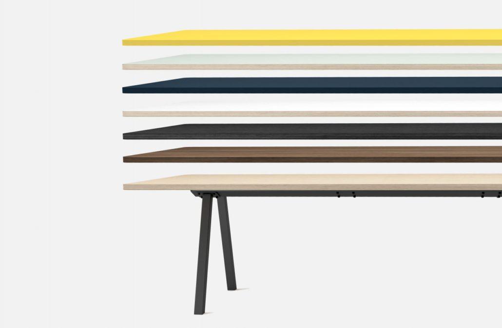 Modulair en kleurrijk tafelblad