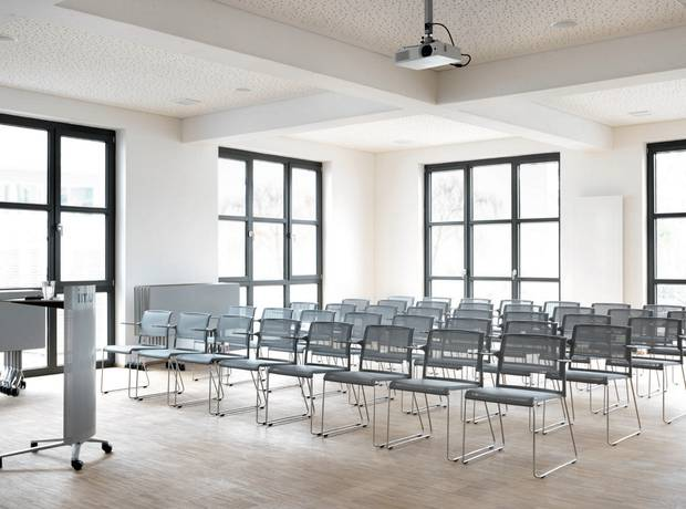 Seminarie stoel grijs modern